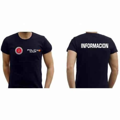 CAMISETA INFORMACION POLICIA NACIONAL
