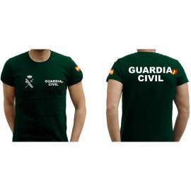 CAMISETA LETRAS BLANCAS GUARDIA CIVIL