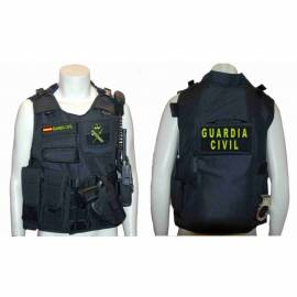 CHALECO BARBARIC FORCE PILKERTON II NEGRO GUARDIA CIVIL