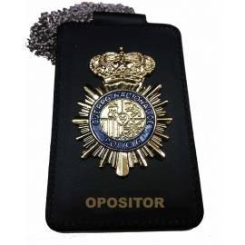 PORTAPLACAS OPOSITOR POLICIA NACIONAL ( PLACA INCLUIDA )