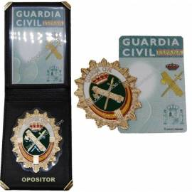 CARTERA CON NUEVA PLACA GUARDIA CIVIL