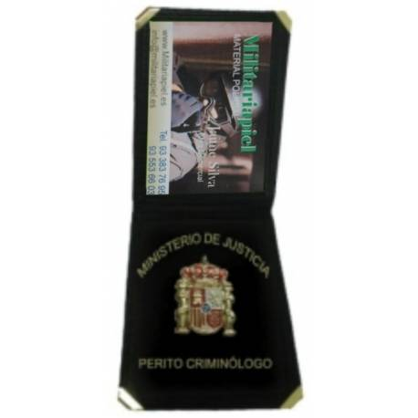 CARTERA PERITO CRIMINOLOGO (PLACA INCLUIDA)