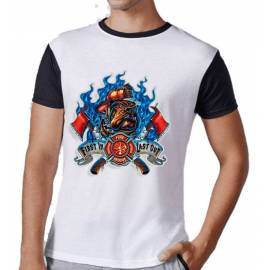 CAMISETA FIRE RESCUE NEGRO