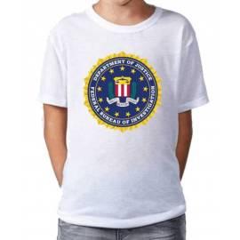 CAMISETA NIÑO FBI USA