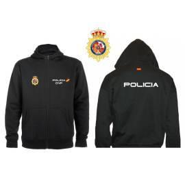 SUDADERA CAPUCHA Y CREMALLERA POLICIA NACIONAL