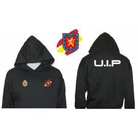 SUDADERA CON CAPUCHA UIP POLICIA NACIONAL