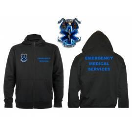 SUDADERA CAPUCHA Y CREMALLERA EMERGENCY MEDICAL