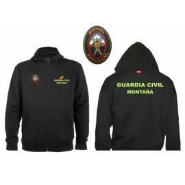 SUDADERA CAPUCHA Y CREMALLERA GUARDIA CIVIL MONTAÑA