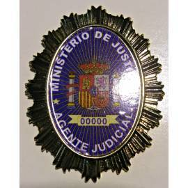 PLACA MINISTERIO JUSTICIA AGENTE JUDICIAL