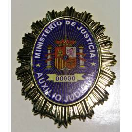 PLACA MINISTERIO JUSTICIA AUXILIO JUDICIAL