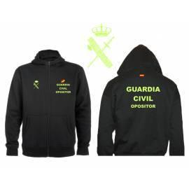 SUDADERA CAPUCHA Y CREMALLERA OPOSITOR GUARDIA CIVIL