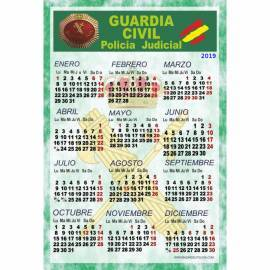 CALENDARIO LAMINA PARA PARED 2019 GUARDIA CIVIL POLICIA JUDICIAL