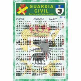CALENDARIO LAMINA PARA PARED 2019 GUARDIA CIVIL INFORMACION