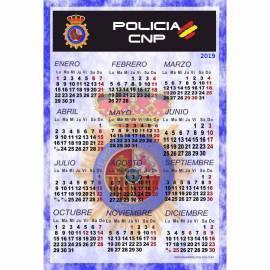 CALENDARIO LAMINA PARA PARED 2019 POLICIA NACIONAL