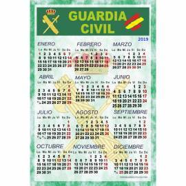 CALENDARIO LAMINA PARA PARED 2019 GUARDIA CIVIL