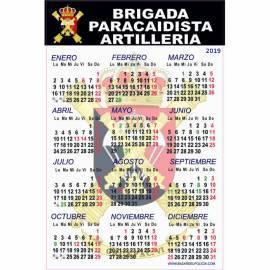 CALENDARIO 2019 BRIGADA PARACAIDISTA