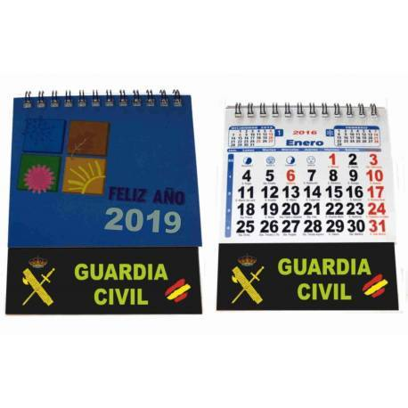 CALENDARIO SOBREMESA 2019 GUARDIA CIVIL