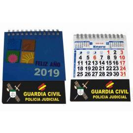 CALENDARIO SOBREMESA 2019 GUARDIA CIVIL POLICIA JUDICIAL