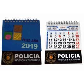 CALENDARIO SOBREMESA 2019 MOSSOS D'ESQUADRA