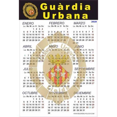 CALENDARIO ADHESIVO 2015 GUARDIA URBANA LLEIDA