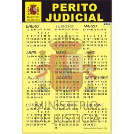 CALENDARIO ADHESIVO 2019 PERITO JUDICIAL
