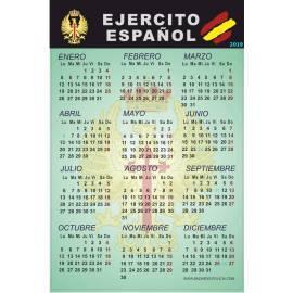 CALENDARIO ADHESIVO 2019 EJERCITO ESPAÑOL
