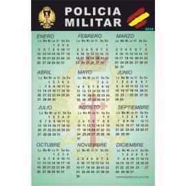 CALENDARIO ADHESIVO 2019 POLICIA MILITAR