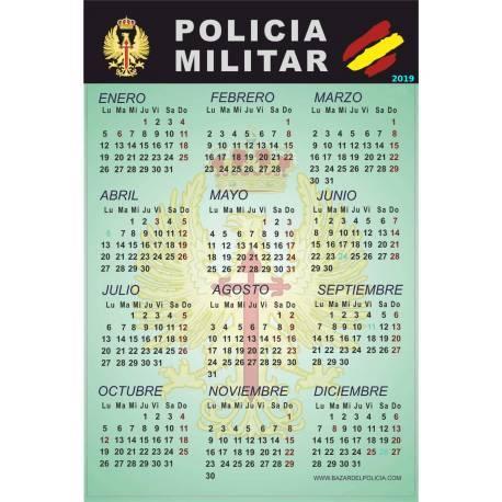 CALENDARIO ADHESIVO 2015 POLICIA MILITAR