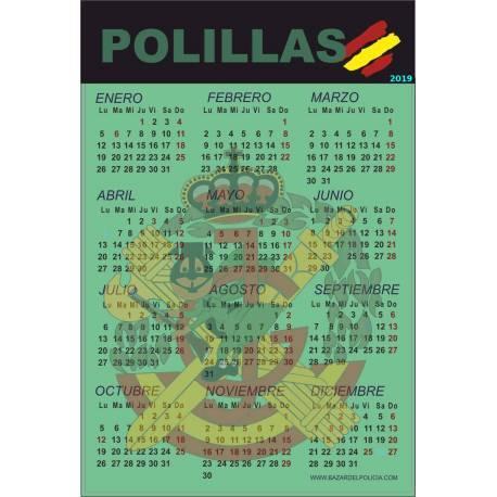 CALENDARIO ADHESIVO 2019 POLILLAS