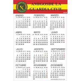 CALENDARIO ADHESIVO 2019 AMIGOS GUARDIA CIVIL