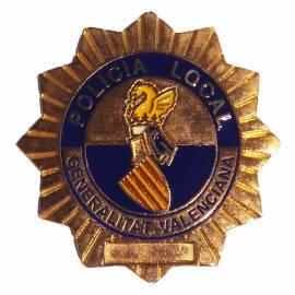 Placa Policía Local Comunidad Valenciana