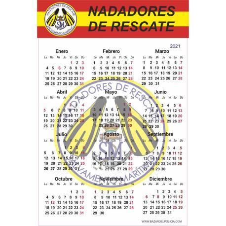 CALENDARIO ADHESIVO 2015 NADADORES DE RESCATE