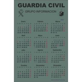 CALENDARIO 2021 GRUPO DE INFORMACION GUARDIA CIVIL
