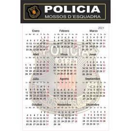 CALENDARIO 2021 MOSSOS D'ESQUADRA