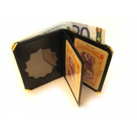 Cartera Portaplaca Policia Valencia Tipo Libro Con Billetero