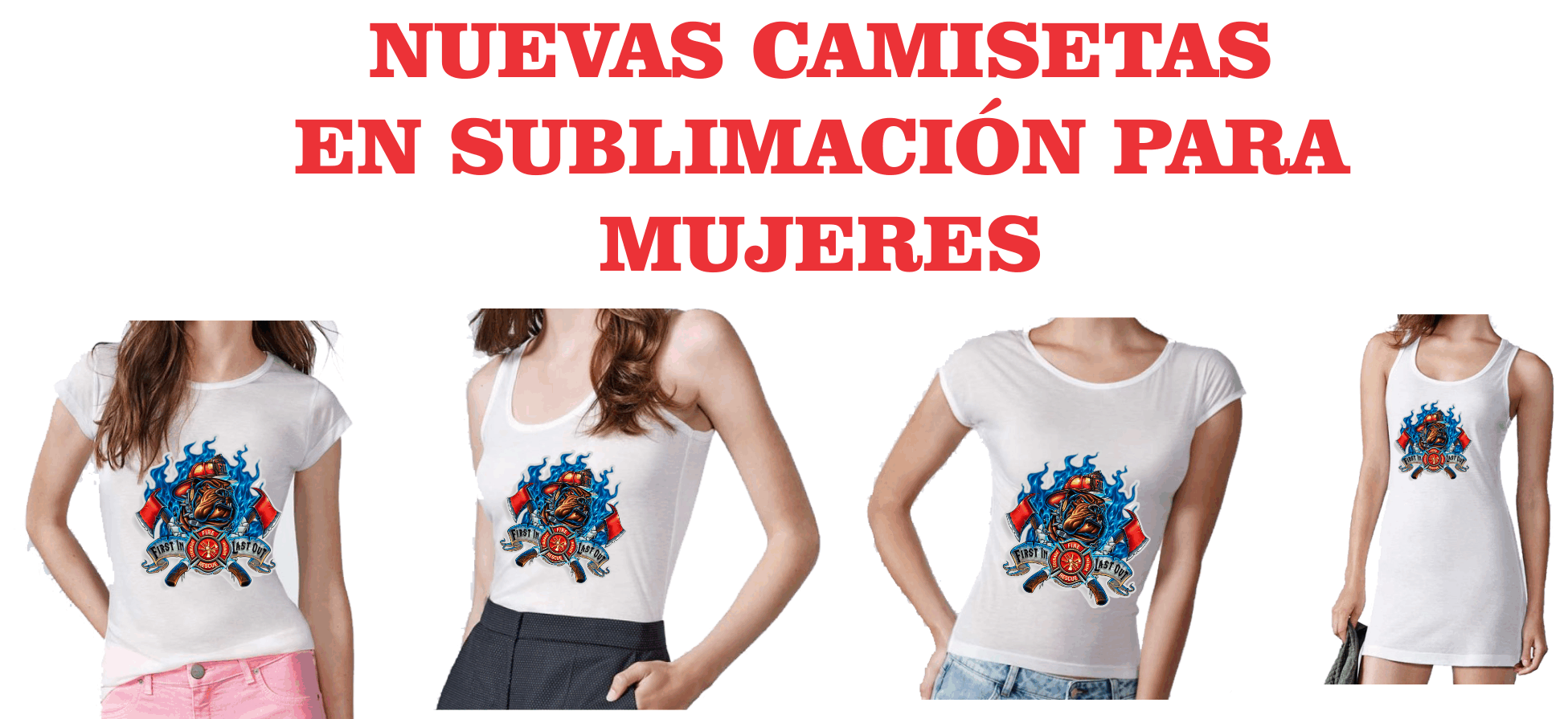 Camisetas mujer para sublimar
