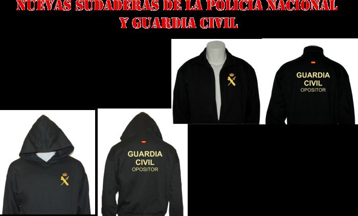 Nuevas sudaderas de policía nacional y guardia civil