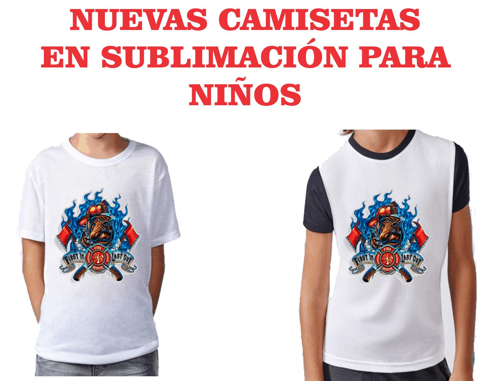 Camisetas para niños en sublimación